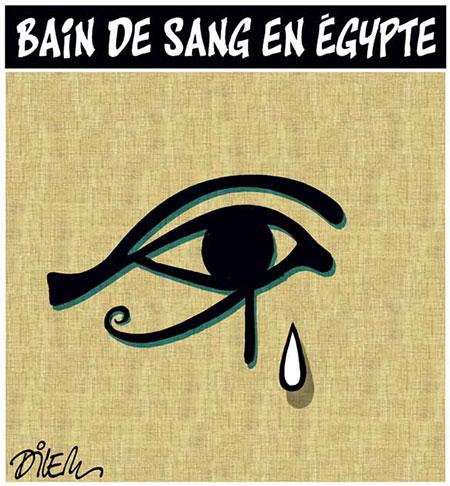 Bain de sang en Egypte - Dessins et Caricatures, Dilem - Liberté - Gagdz.com