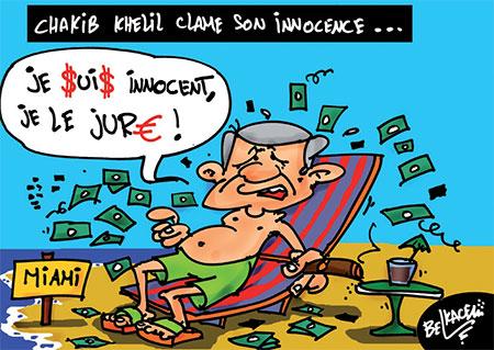 Chakib Khelil clame son innocence - Dessins et Caricatures, Lounis Le jour d'Algérie - Gagdz.com