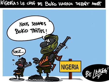 Nigeria: Le chef de Boko Haram serait mort - Belkacem - Le Courrier d'Algérie, Dessins et Caricatures - Gagdz.com