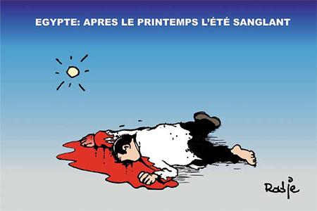 Egypte: Après le printemps l'été sanglant - Dessins et Caricatures, Ghir Hak - Les Débats - Gagdz.com