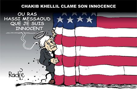 Chakib Khelil clame son innocence - Dessins et Caricatures, Ghir Hak - Les Débats - Gagdz.com