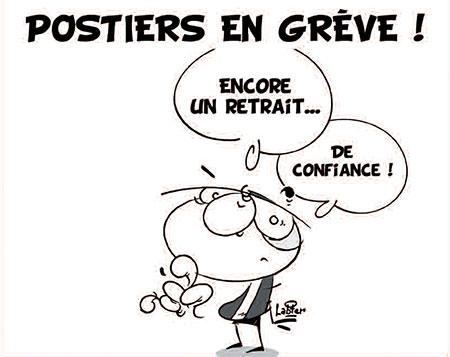 Postiers en grève - Dessins et Caricatures, Vitamine - Le Soir d'Algérie - Gagdz.com