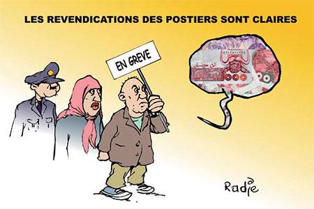 Les revendications des postiers sont claires - Dessins et Caricatures, Ghir Hak - Les Débats - Gagdz.com