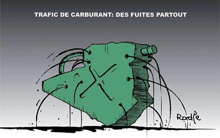 Trafic de carburant: Des fuites partout - Dessins et Caricatures, Ghir Hak - Les Débats - Gagdz.com