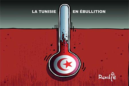La Tunisie en ébulition - Dessins et Caricatures, Ghir Hak - Les Débats - Gagdz.com