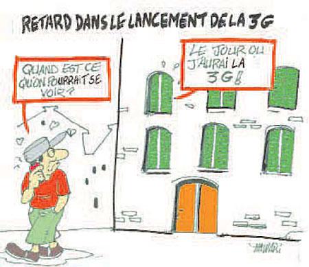 Retard dans le lancement de la 3G - Dessins et Caricatures - Gagdz.com