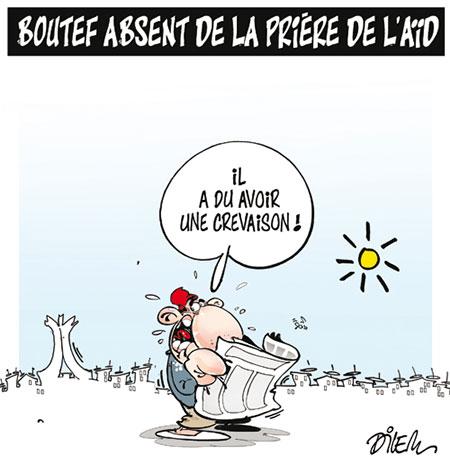 Boutef absent de la prière de l'aïd - Dessins et Caricatures, Dilem - Liberté - Gagdz.com