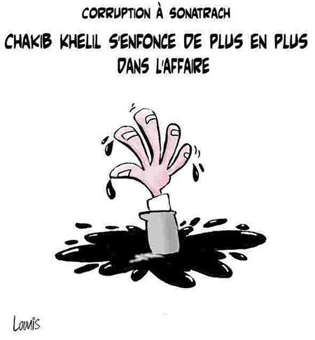 Corruption à Sonatrach: Chakib Khelil s'enfonce de plus en plus dans l'affaire - Dessins et Caricatures, Lounis Le jour d'Algérie - Gagdz.com