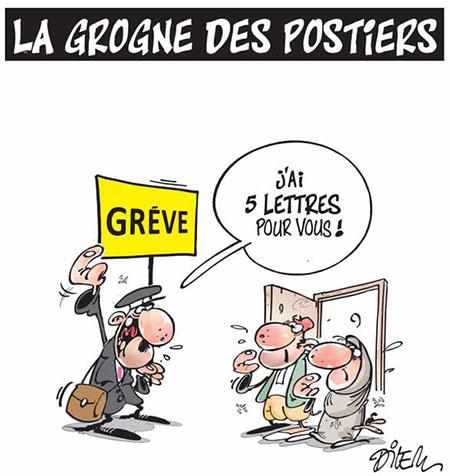 La grogne des postiers - Dessins et Caricatures, Dilem - Liberté - Gagdz.com