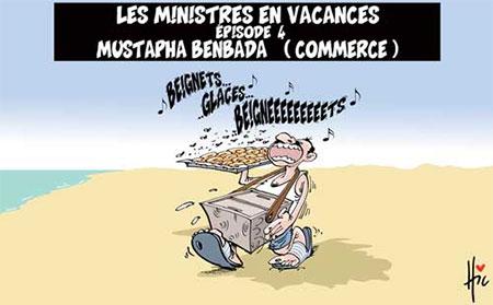Les ministres en vacances: Mustapha Benbada (commerce) - Dessins et Caricatures, Le Hic - El Watan - Gagdz.com