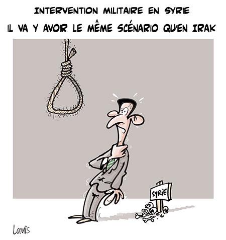 Intervention militaire en Syrie: Il va y avoir le même scénario qu'en Irak - Dessins et Caricatures, Lounis Le jour d'Algérie - Gagdz.com