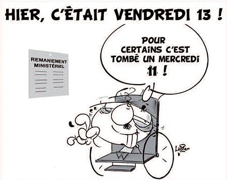 Hier, c'était vendredi 13 - Dessins et Caricatures, Vitamine - Le Soir d'Algérie - Gagdz.com