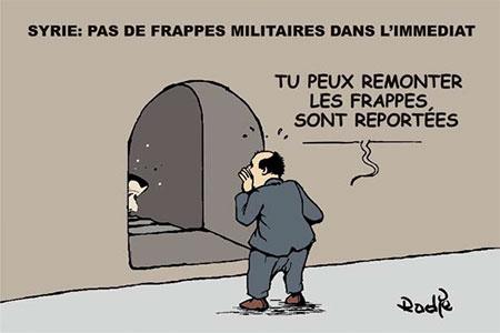Syrie: Pas de frappes militaires dans l'immediat - Dessins et Caricatures, Ghir Hak - Les Débats - Gagdz.com