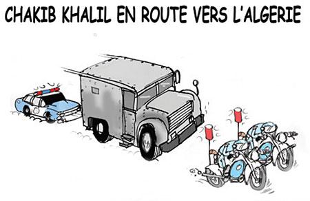 Chakib Khalil en route vers l'Algérie - Dessins et Caricatures, Jony-Mar - La voix de l'Oranie - Gagdz.com