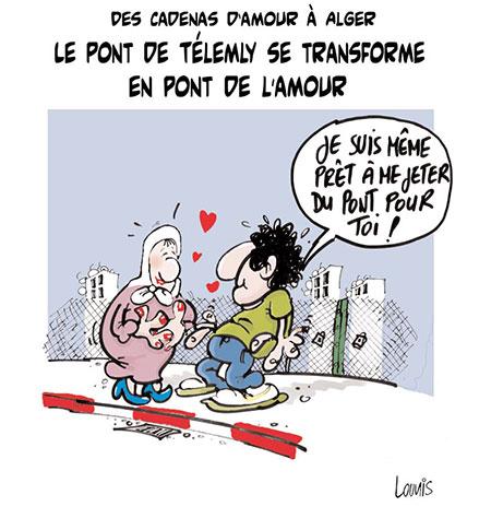 Des cadenas d'amour à Alger: Le pont de télemly se transforme en pont de l'amour