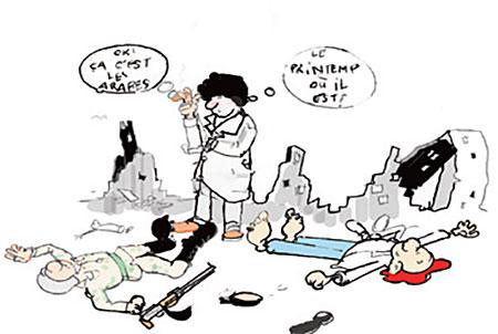 Printemps arabe - Dessins et Caricatures, Jony-Mar - La voix de l'Oranie - Gagdz.com
