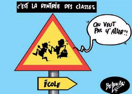C'est la rentrée des classes - Belkacem - Le Courrier d'Algérie, Dessins et Caricatures - Gagdz.com