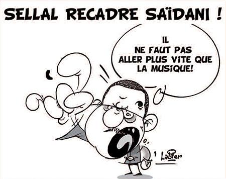 Sellal recadre Saïdani - Dessins et Caricatures, Vitamine - Le Soir d'Algérie - Gagdz.com