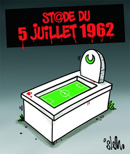 Stade du 5 juillet 1962 caricatures et humour for Piscine du 5 juillet alger