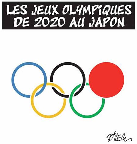 Les jeux olympiques de 2020 au Japon - Dessins et Caricatures, Dilem - Liberté - Gagdz.com