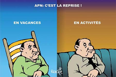 APN: C'est la reprise - Dessins et Caricatures, Ghir Hak - Les Débats - Gagdz.com