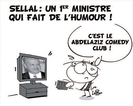 Sellal: Un premier ministre qui fait de l'humour - Dessins et Caricatures, Vitamine - Le Soir d'Algérie - Gagdz.com