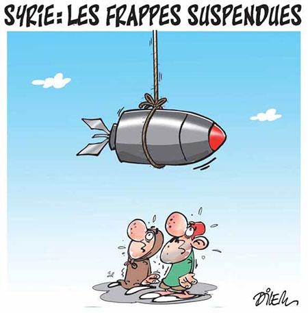 Syrie: Les frappes suspendues - Dessins et Caricatures, Dilem - Liberté - Gagdz.com