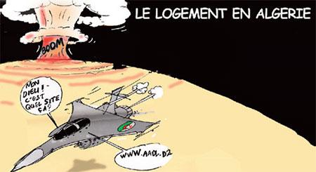 Le logement en Algérie - Dessins et Caricatures, Jony-Mar - La voix de l'Oranie - Gagdz.com