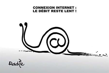 Connexion internet: Le débit reste lent - Dessins et Caricatures, Ghir Hak - Les Débats - Gagdz.com