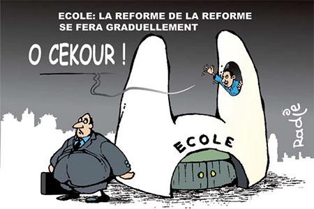 Ecole: La réforme se fera graduellement - Dessins et Caricatures, Ghir Hak - Les Débats - Gagdz.com