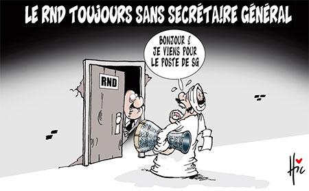 Le rnd toujours sans secrétaire général - Dessins et Caricatures, Le Hic - El Watan - Gagdz.com