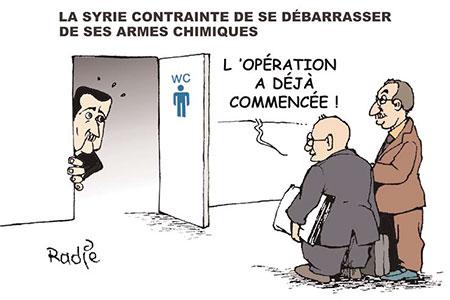 La Syrie contrainte de se débarasser de ses armes chimiques - Dessins et Caricatures, Ghir Hak - Les Débats - Gagdz.com