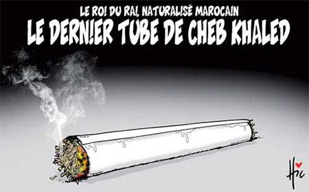 Le roi du rai naturalisé marocain: Le dernier tube de cheb Khaled - Dessins et Caricatures, Le Hic - El Watan - Gagdz.com