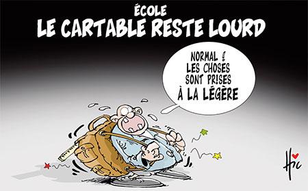 Ecole: Le cartable reste lourd - Dessins et Caricatures, Le Hic - El Watan - Gagdz.com