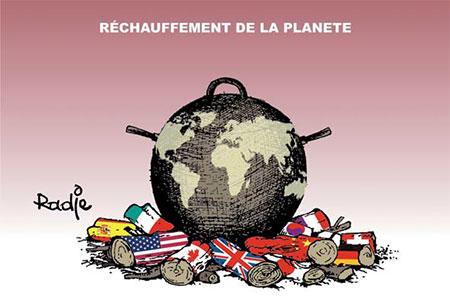 Réchauffement de la planète - Dessins et Caricatures, Ghir Hak - Les Débats - Gagdz.com