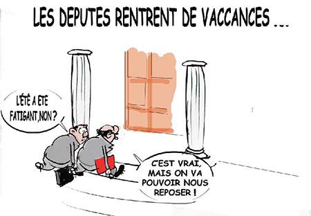 Les députés rentrent de vacances - Dessins et Caricatures, Jony-Mar - La voix de l'Oranie - Gagdz.com