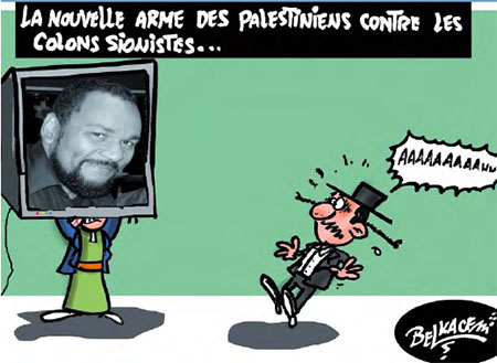 La nouvelle arme des palestiniens contre les colons sionistes - Belkacem - Le Courrier d'Algérie, Dessins et Caricatures - Gagdz.com
