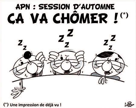 APN, session d'automne: Ca va chômer - Dessins et Caricatures, Vitamine - Le Soir d'Algérie - Gagdz.com