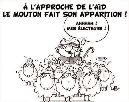 A l'approche de l'aid le mouton fait son apparition - Dessins et Caricatures, Vitamine - Le Soir d'Algérie - Gagdz.com