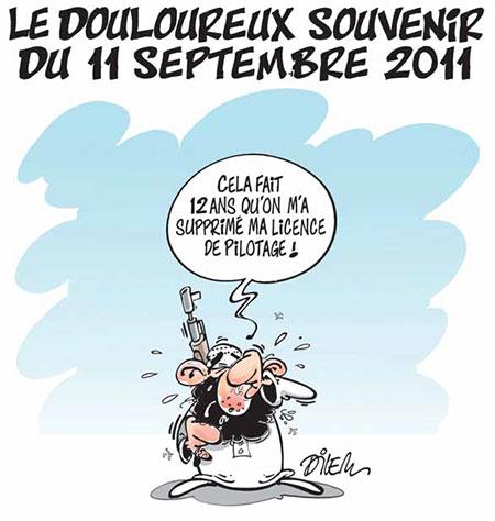 Le douloureux souvenir du 11 septembre 2011 - Dessins et Caricatures, Dilem - Liberté - Gagdz.com