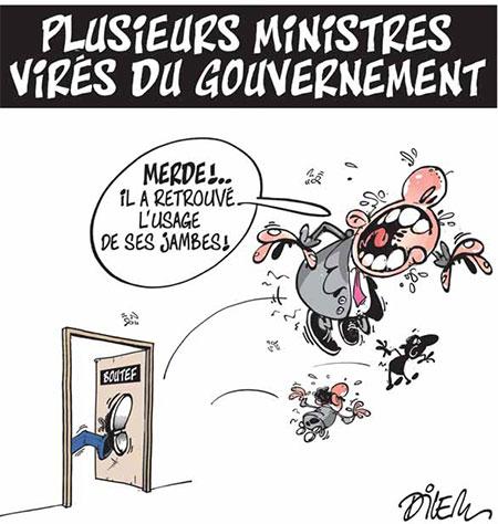 Plusieurs ministres virés du gouvernement - Dessins et Caricatures, Dilem - Liberté - Gagdz.com