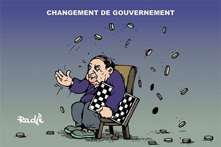 Changement de gouvernement - Dessins et Caricatures, Ghir Hak - Les Débats - Gagdz.com