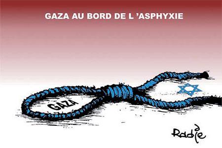 Gaza au bord de l'asphyxie - Dessins et Caricatures, Ghir Hak - Les Débats - Gagdz.com
