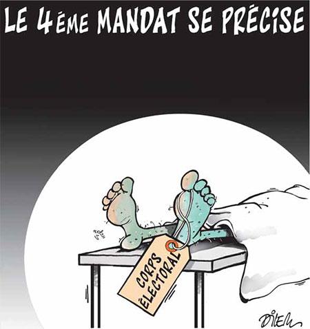 Le 4ème mandat se précise - Dessins et Caricatures, Dilem - Liberté - Gagdz.com