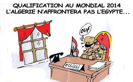 Qualification au mondial 2014: L'Algérie n'affrontera pas l'Egypte - Dessins et Caricatures, Jony-Mar - La voix de l'Oranie - Gagdz.com