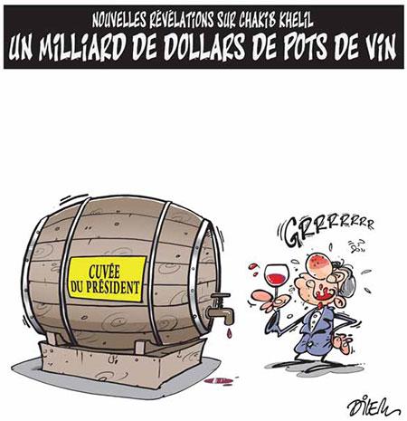 Nouvelles révélations sur Chakib Khelil: Un miliard de dollars de pots de vin - Dessins et Caricatures, Dilem - Liberté - Gagdz.com
