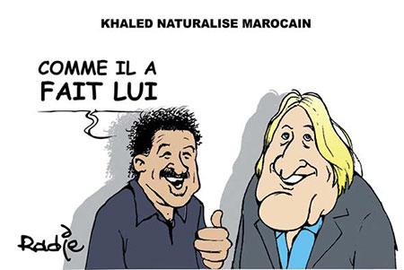 Khaled naturalisé marocain - Dessins et Caricatures, Ghir Hak - Les Débats - Gagdz.com