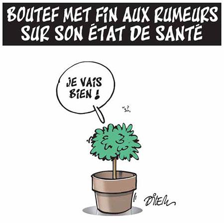 Boutef met fin aux rumeurs sur son état de santé - Dessins et Caricatures, Dilem - Liberté - Gagdz.com