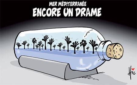 Mer méditerranée: Encore un drame - Dessins et Caricatures, Le Hic - El Watan - Gagdz.com