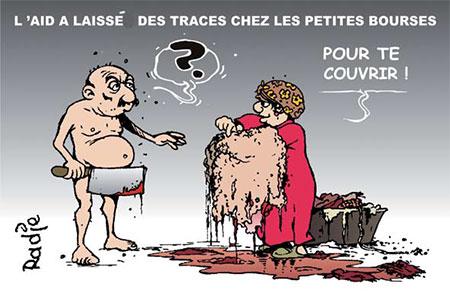 L'aid a laissé des traces chez les petites bourses - Dessins et Caricatures, Ghir Hak - Les Débats - Gagdz.com